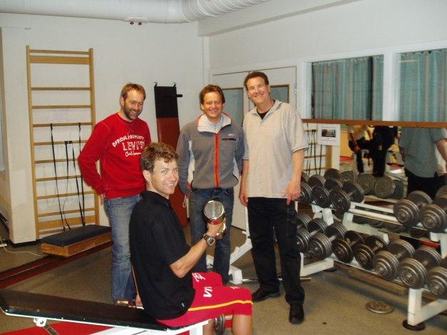 Roger Grubben, Head Coach men Torgeir Bjørn, Technique Coach Fred Koch, Strength Coach Ole Einar Bjørndalen, World Champion Biathlete